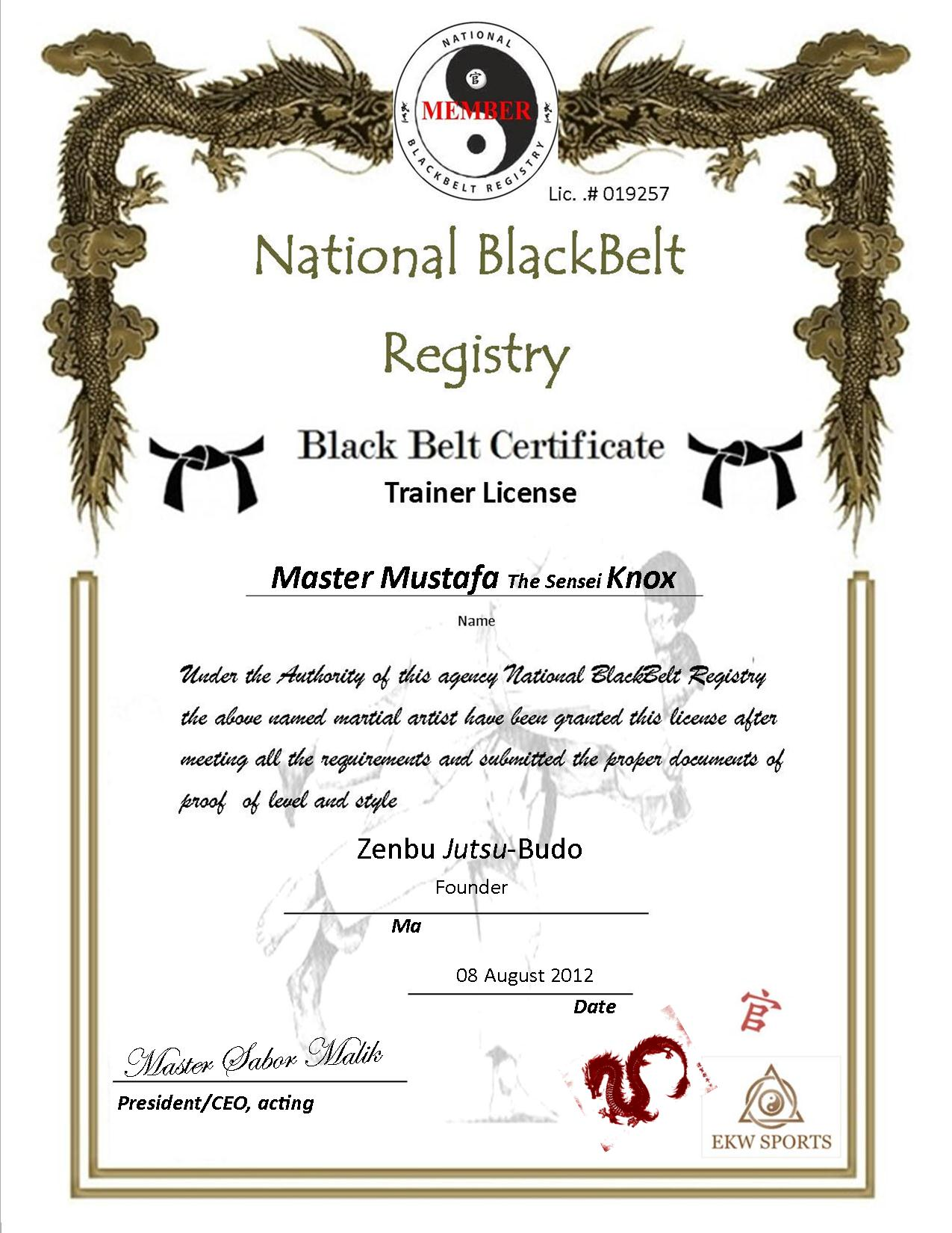 Martial arts certificate templates free book covers for Martial arts certificate template